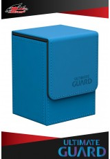Deck Case Ultimate Guard - Flip 80+ Leatherette - Blue