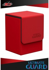 Deck Case Ultimate Guard - Flip 80+ Leatherette - Red
