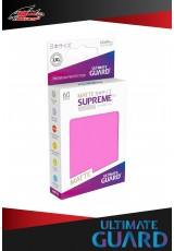 Deck Protector Ultimate Guard Supreme UX Japanese Size Matte (60 sleeves) - Pink