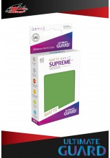 Deck Protector Ultimate Guard Supreme UX Japanese Size Matte (60 sleeves) - Green