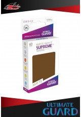Deck Protector Ultimate Guard Supreme UX Japanese Size Matte (60 sleeves) - Brown
