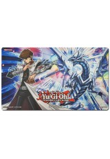 Playmat Oficial Konami - Win-a-Mat - Kaiba e Blue-Eyes Solid Dragon