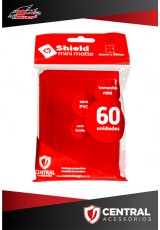 Central Shield Mini (60 Sleeves) - Vermelho