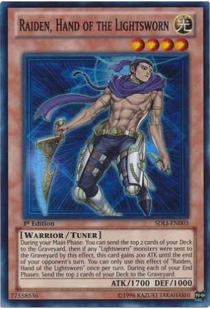Raiden, Hand of the Lightsworn - SDLI-EN003 - Super Rare