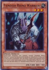 Fiendish Rhino Warrior - OP02-EN005 - Super Rare