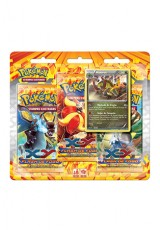Pokémon XY2 Flash de Fogo Triple Pack - Haxorus