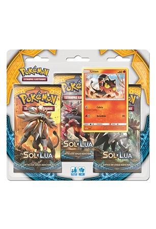Pokémon Sol e Lua Triple Pack - Litten