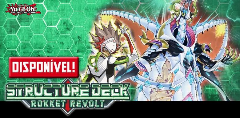 Avulsas Yu-Gi-Oh! Deck Estrutural Revolta do Foguete ddisponíveis!